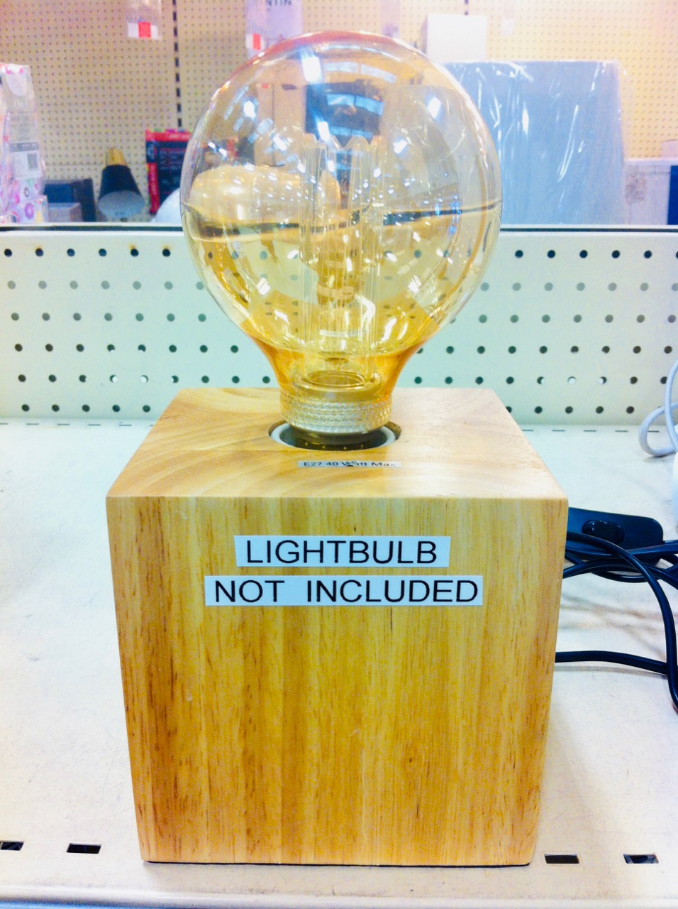 Lightbulb not included